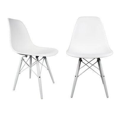Hammond Modern Solid Wood Dining Chair Finish: White