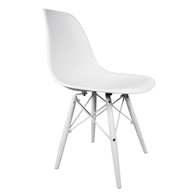 Hammond Rustic Solid Wood Dining Chair Finish: White