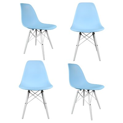 Hammond Solid Wood Dining Chair Finish: Light Blue
