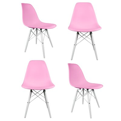 Hammond Solid Wood Dining Chair Finish: Pink