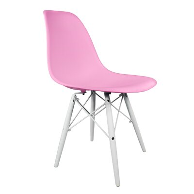 Hammond Rustic Solid Wood Dining Chair Finish: Pink