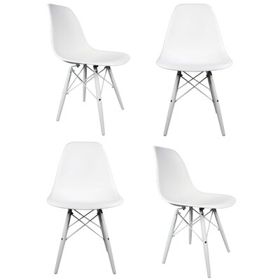Hammond Solid Wood Dining Chair Finish: White