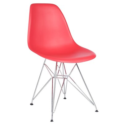 Larita Side Chair Finish: Red
