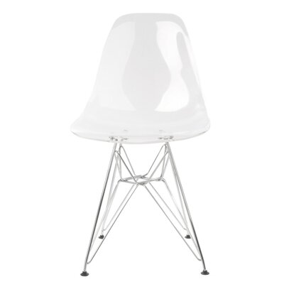 Harrison Side Chair Finish: Clear
