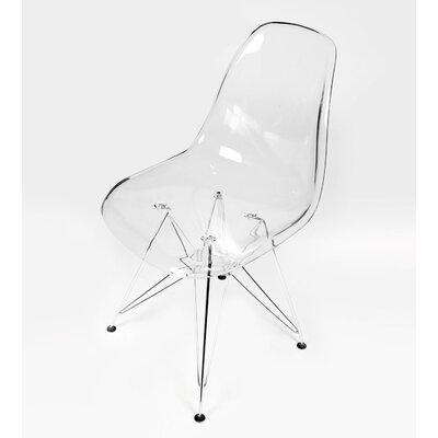 Hammond Modern Side Chair Finish: Clear