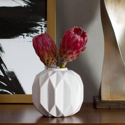 Shiny White Ceramic Vase