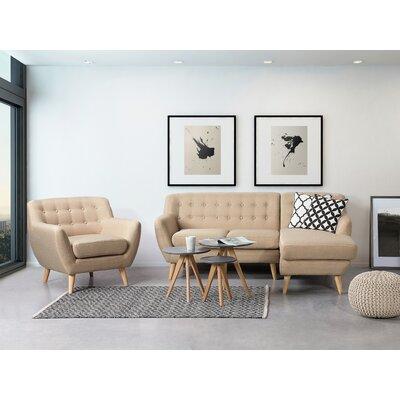 Kelton Solid Sectional Upholstery: Beige