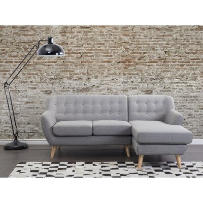 Kelton Solid Sectional Upholstery: Light Gray