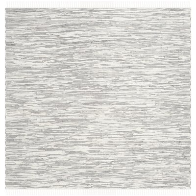 Alcurve Indoor/Outdoor Silver Area Rug Rug Size: Square 6'