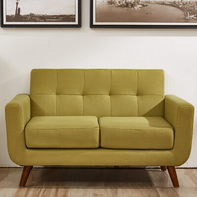 Magic Loveseat Upholstery: Olive Green