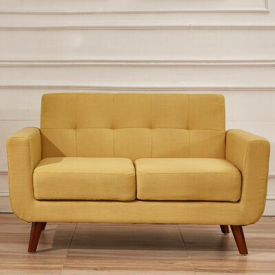 Rumsey Loveseat Upholstery: Naples Yellow