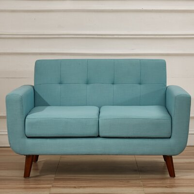 Magic Loveseat Upholstery Color: Eton Blue