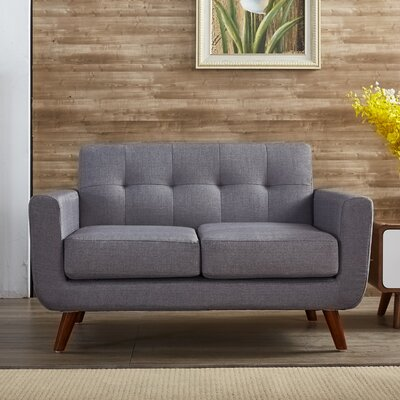 Rumsey Loveseat Upholstery: Grey