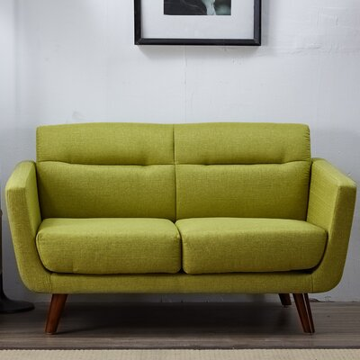 Cambra Loveseat Upholstery: Lemon Green