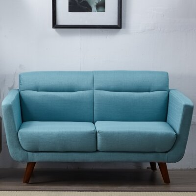 Cambra Loveseat Upholstery: Light Blue