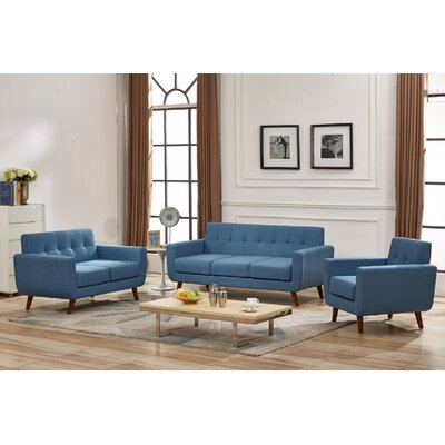 Magic 3 Piece Living Room Set Upholstery: Paynes Gray