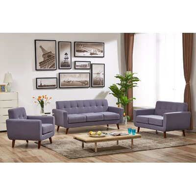 Magic 3 Piece Living Room Set Upholstery: Taupe Gray