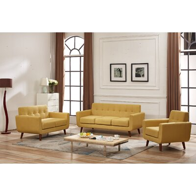Magic 3 Piece Living Room Set Upholstery: Naples Yellow