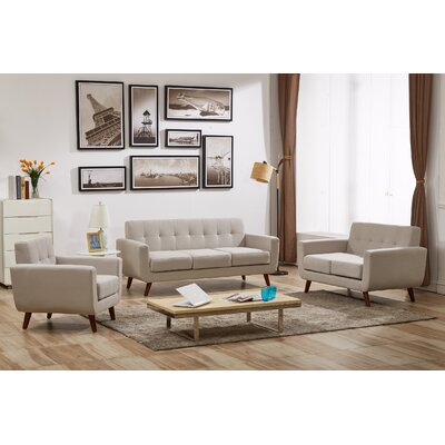 Magic 3 Piece Living Room Set Upholstery: Tan