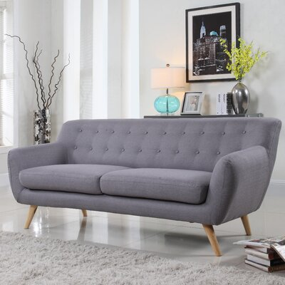Milland Mid-Century Sofa Upholstery: Light Grey