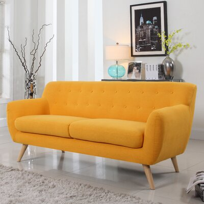 Milland Mid-Century Sofa Upholstery: Yellow