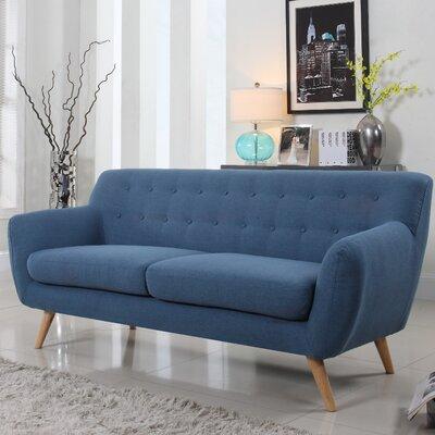 Milland Mid-Century Sofa Upholstery: Blue