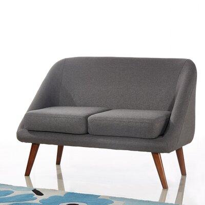 Caterina Modern Style Loveseat Upholstery: Dark Gray
