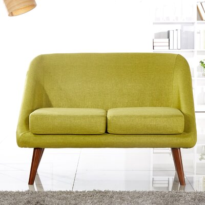 Caterina Modern Style Loveseat Upholstery: Green