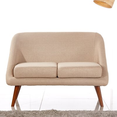 Caterina Modern Style Loveseat Upholstery: Beige