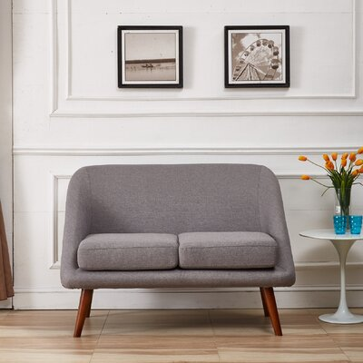Caterina Modern Style Loveseat Upholstery: Grey