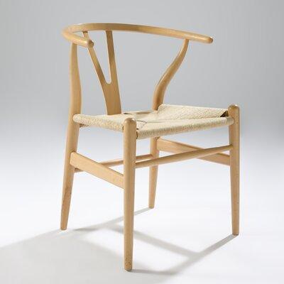 Villa Court Wishbone Arm Chair Finish: Natural Beechwood