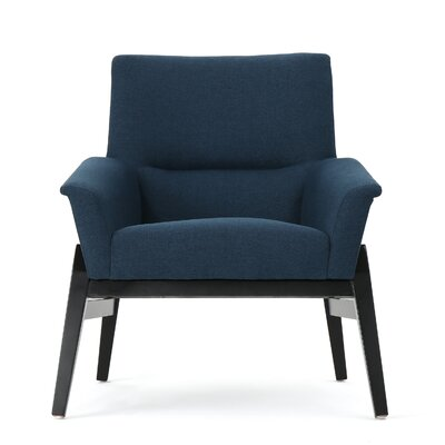 Fabric Club Chair Upholstery: Navy Blue