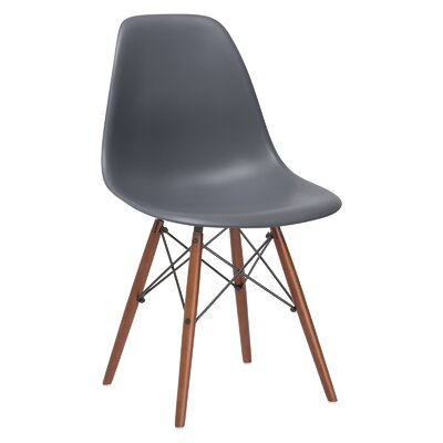 Quintus Dining Chair Finish: Walnut, Color: Grey