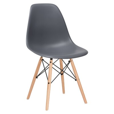 Quintus Side Chair Color: Grey, Finish: Natural
