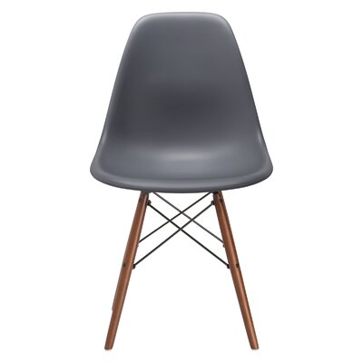 Quintus Side Chair Finish: Walnut, Color: Grey