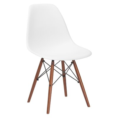 Quintus Side Chair Finish: Walnut, Color: White