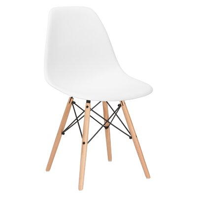 Quintus Side Chair Finish: Natural, Color: White