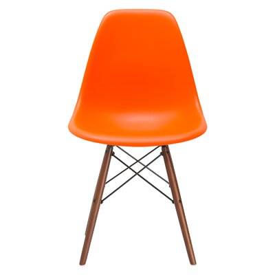 Quintus Dining Chair Finish: Walnut, Color: Orange