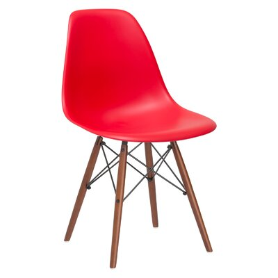 Quintus Side Chair Finish: Walnut, Color: Red