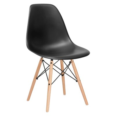 Quintus Side Chair Finish: Natural, Color: Black