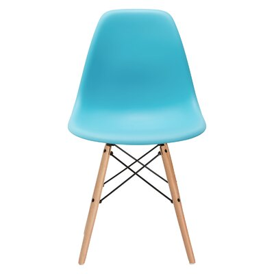 Quintus Dining Chair Finish: Natural, Color: Aqua