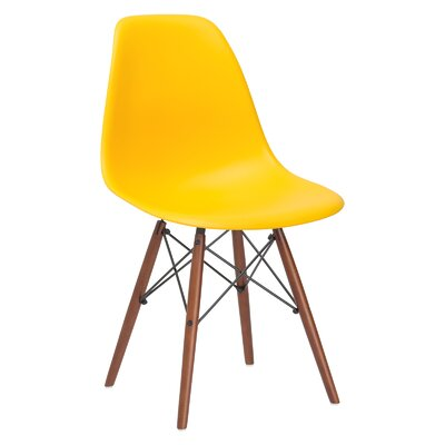 Quintus Dining Chair Finish: Walnut, Color: Yellow
