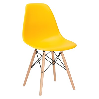 Quintus Side Chair Color: Yellow, Finish: Natural