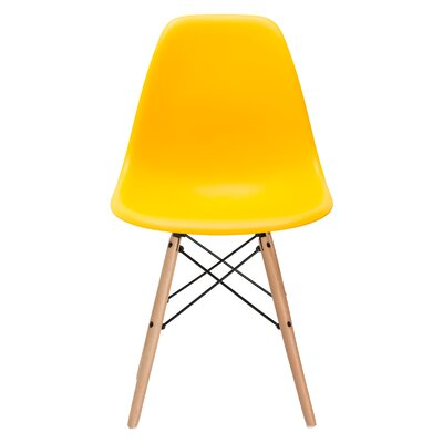 Quintus Dining Chair Finish: Natural, Color: Yellow