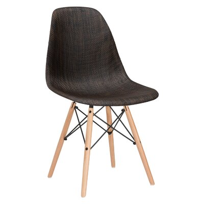 Quintus Side Chair Upholstery: Coco, Leg Finish: Walnut