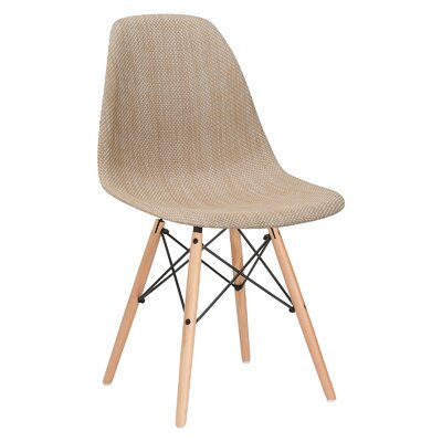 Quintus Side Upholstered Dining Chair Upholstery: Beige, Leg Finish: Walnut