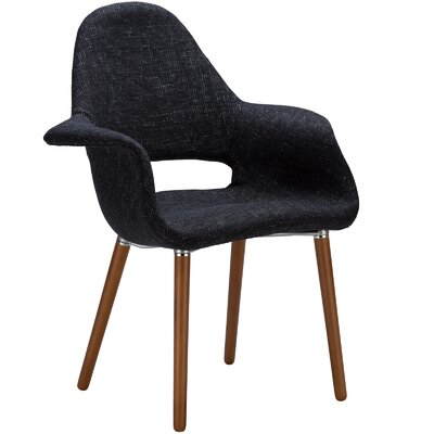 Kansas City Arm Chair Upholstery: Black