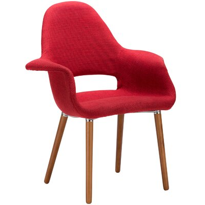 Kansas City Arm Chair Upholstery: Red