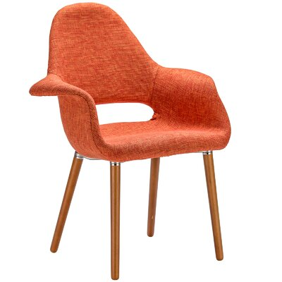 Kansas City Upholstered Dining Chair Upholstery: Orange