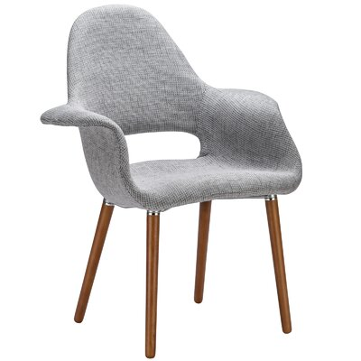 Kansas City Arm Chair Upholstery: Light Gray